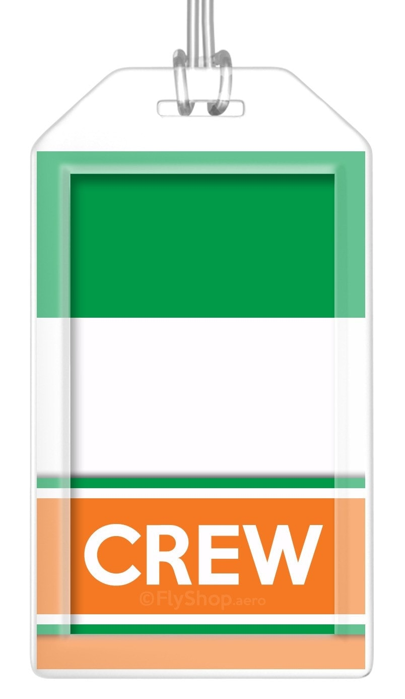 Ireland Flag Crew Bag Tag (Set of 2)