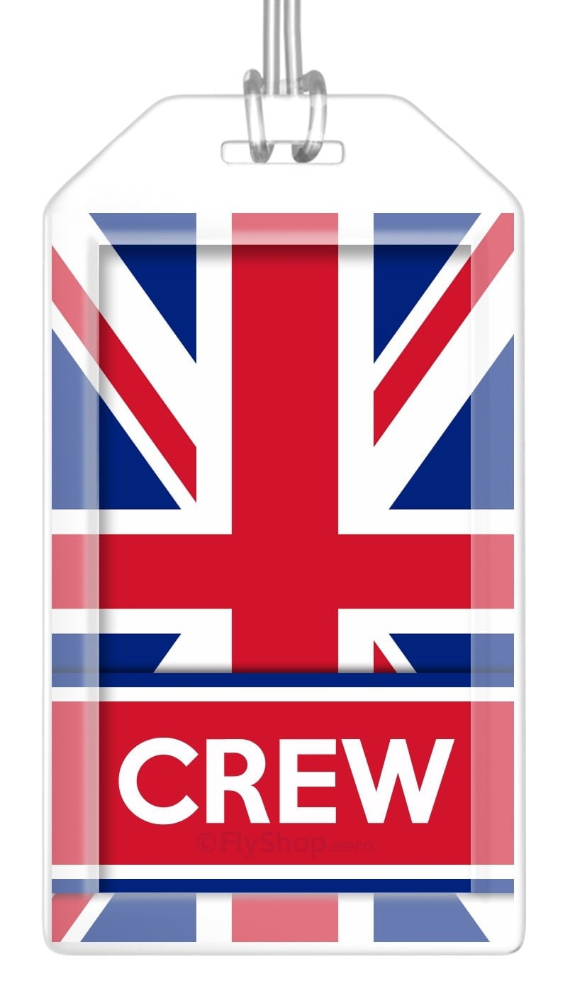 United Kingdom Flag Crew Bag Tag (Set of 2)