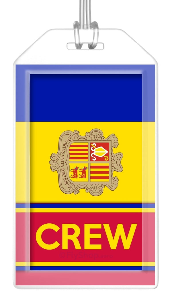 Andorra Flag Crew Bag Tag (Set of 2)