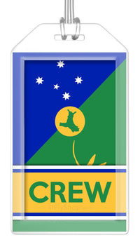 Christmas Island Flag Crew Bag Tag (Set of 2)