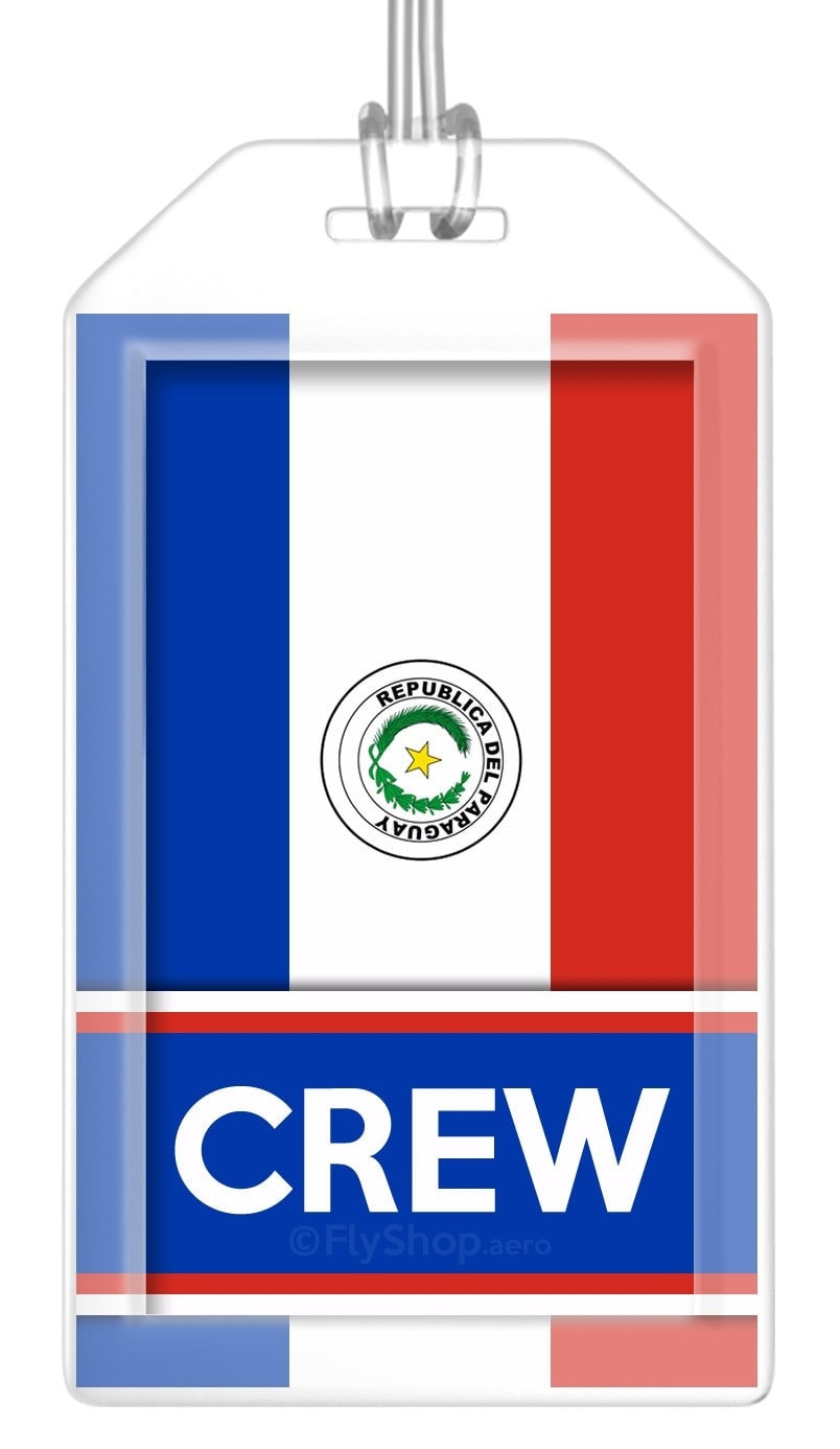 Paraguay Flag Crew Bag Tag (Set of 2)