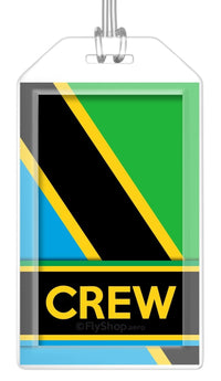 Tanzania Flag Crew Bag Tag (Set of 2)