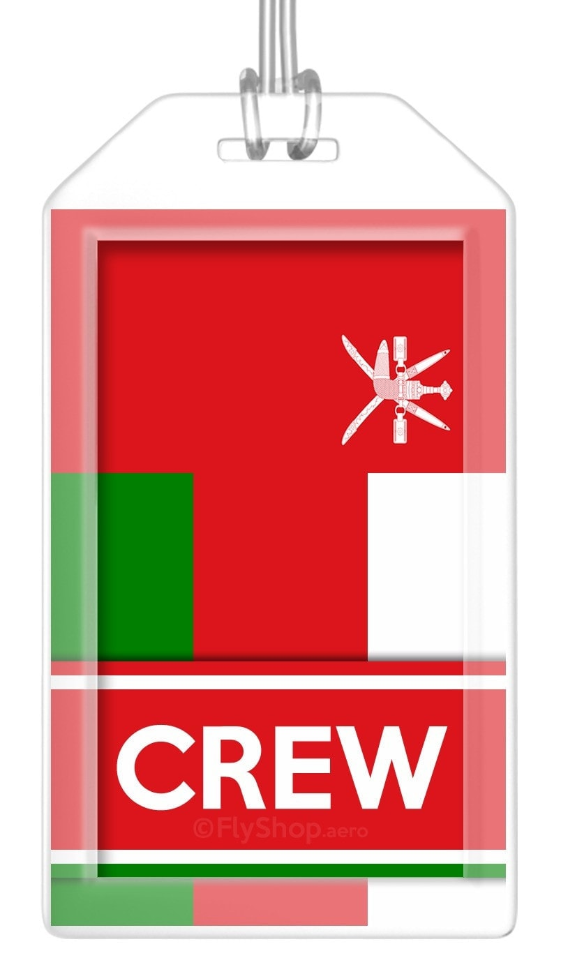 Oman Flag Crew Bag Tag (Set of 2)