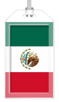 Mexico Flag Bag Tag (Set of 2)