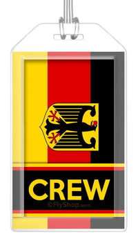 Germany (Variant) Flag Crew Bag Tag (Set of 2)