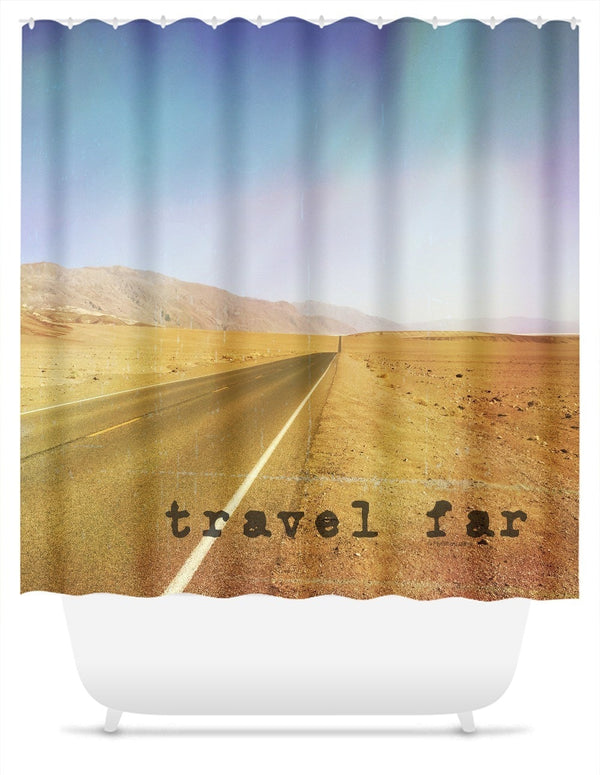 Travel Far Death Valley Shower Curtain