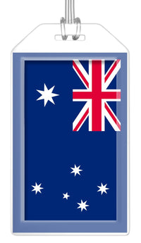 Australia Flag Bag Tag (Set of 2)