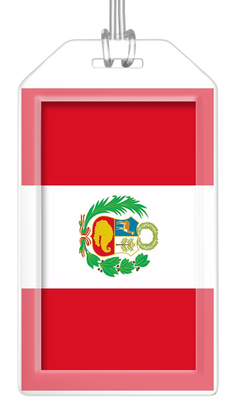 Peru Flag Bag Tag (Set of 2)