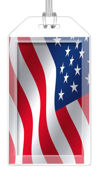 USA (Variant) Flag Bag Tag (Set of 2)