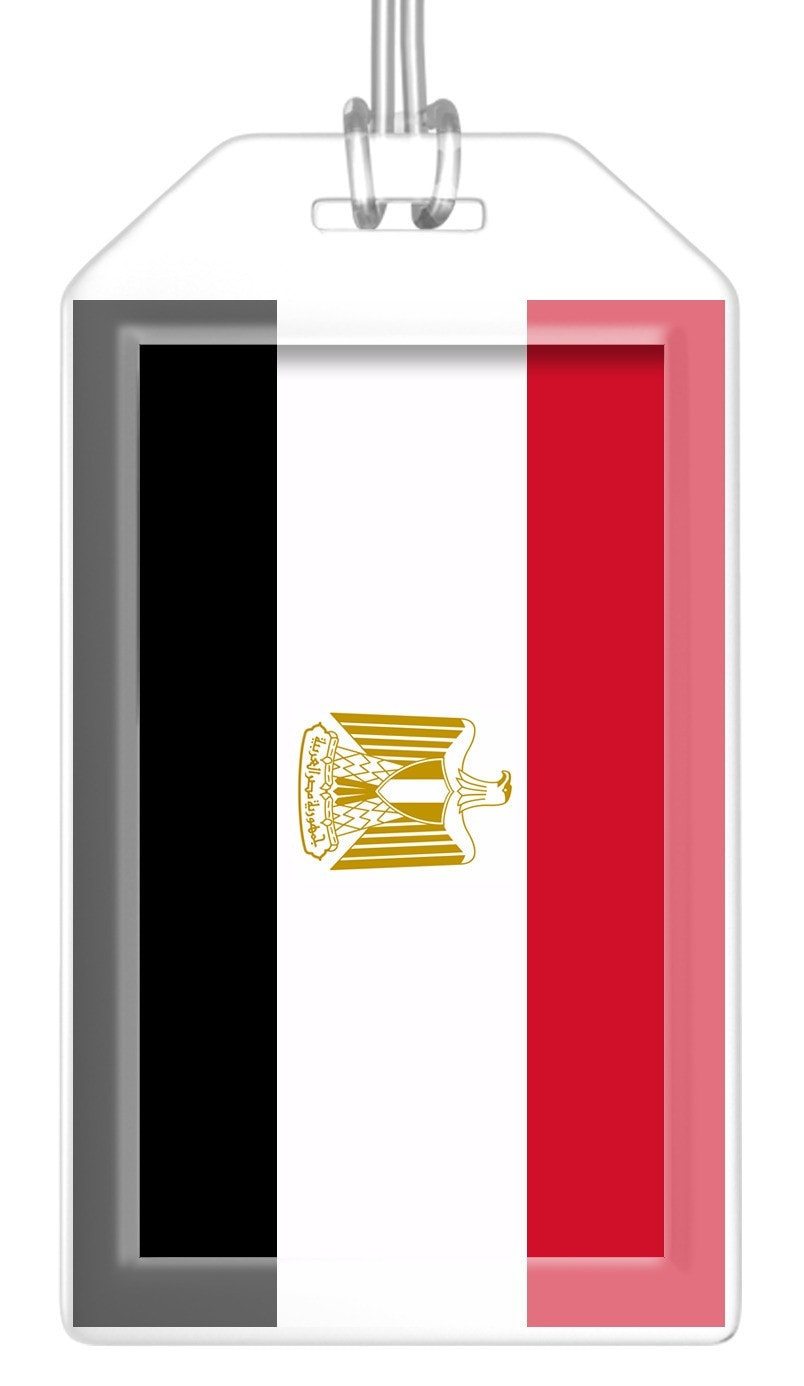 Egypt Flag Bag Tag (Set of 2)