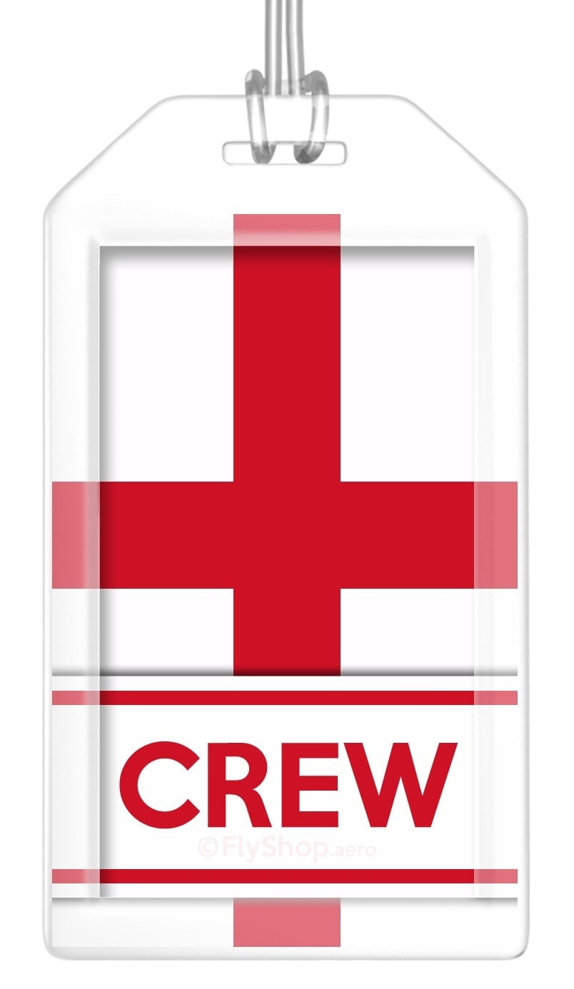 England Flag Crew Bag Tag (Set of 2)