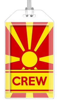 Macedonia Flag Crew Bag Tag (Set of 2)