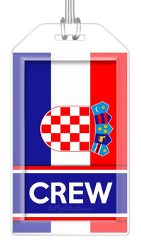 Croatia Flag Crew Bag Tag (Set of 2)