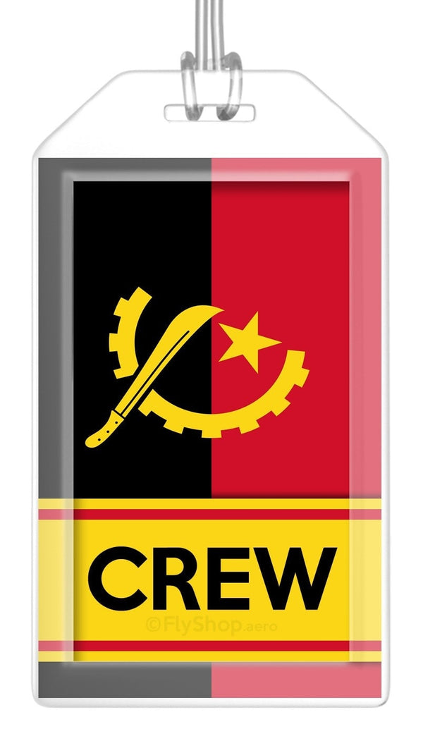 Angola Flag Crew Bag Tag (Set of 2)