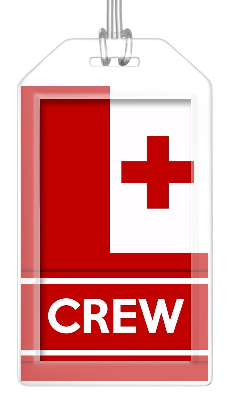 Tonga Flag Crew Bag Tag (Set of 2)