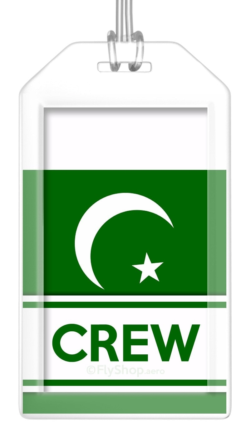 Pakistan Flag Crew Bag Tag (Set of 2)