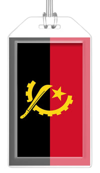 Angola Flag Bag Tag (Set of 2)