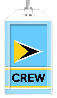 St. Lucia Flag Crew Bag Tag (Set of 2)