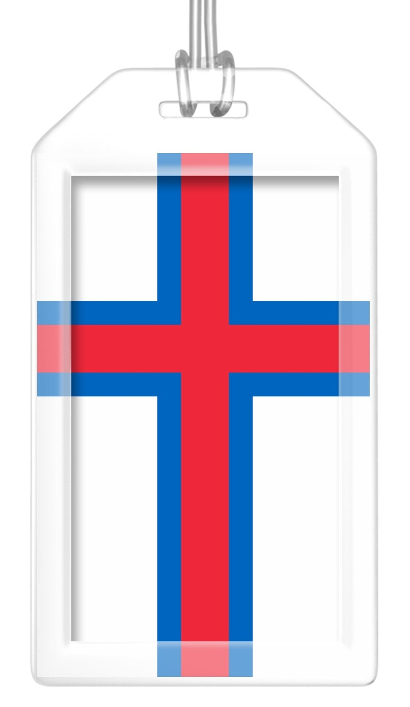Faroe Islands Flag Bag Tag (Set of 2)