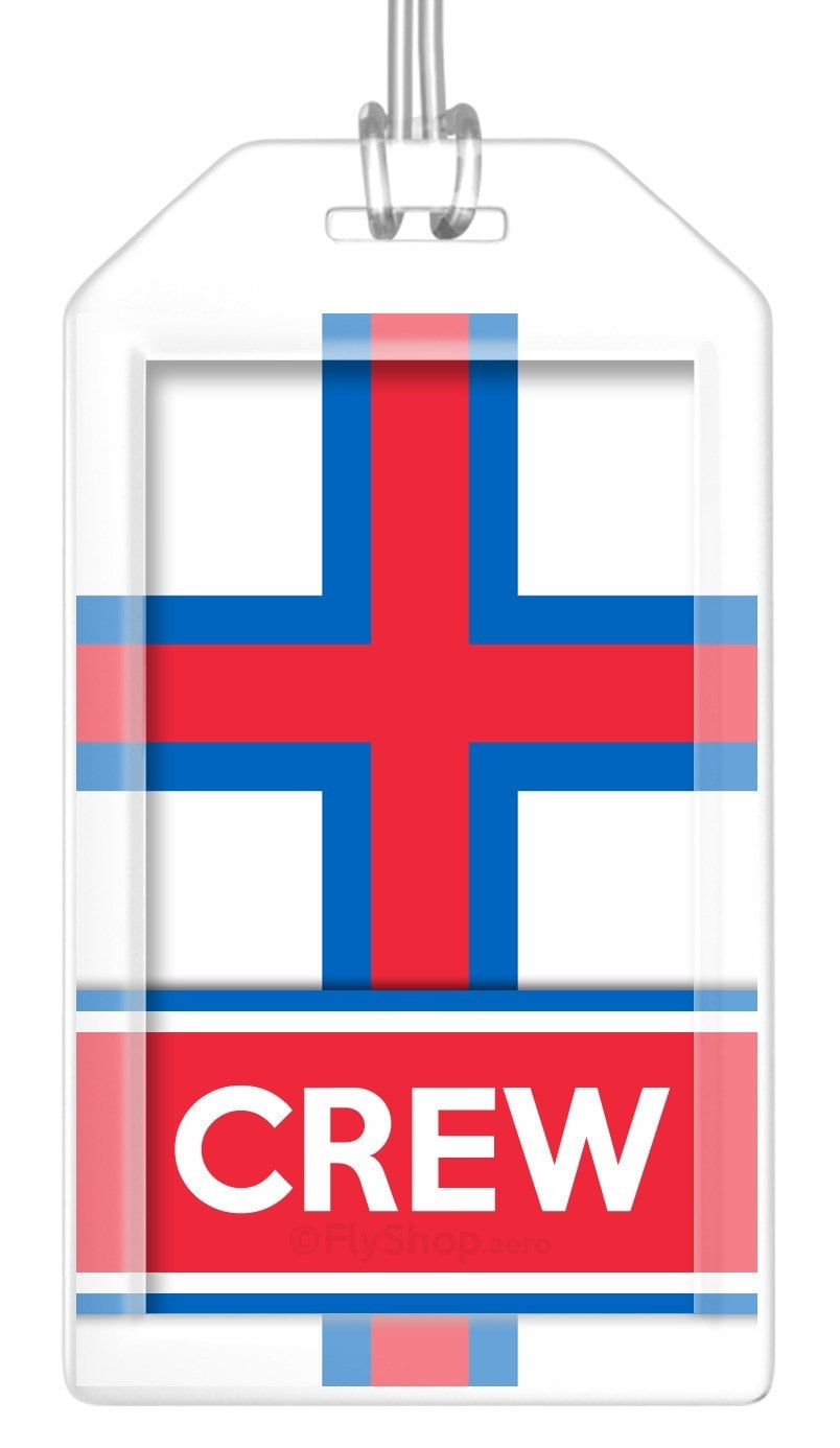 Faroe Islands Flag Crew Bag Tag (Set of 2)