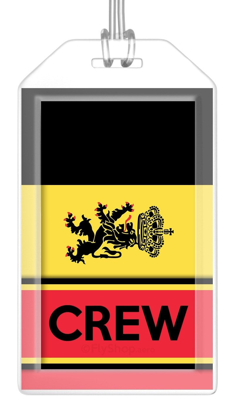 Belgium Flag Crew Bag Tag (Set of 2)