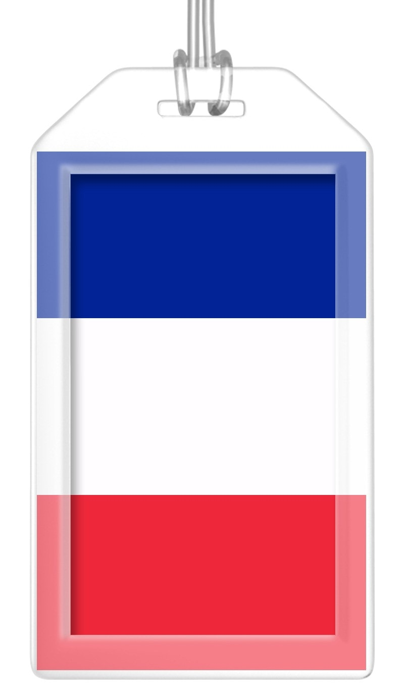 France Flag Bag Tag (Set of 2)