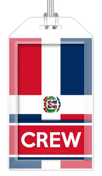 Dominican Republic Flag Crew Bag Tag (Set of 2)