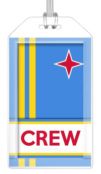 Aruba Flag Crew Bag Tag (Set of 2)