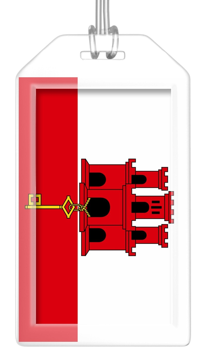 Gibraltar Flag Bag Tag (Set of 2)