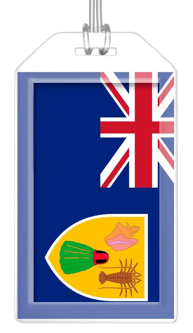 Turks and Caicos Islands Flag Bag Tag (Set of 2)