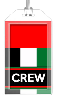 United Arab Emirates Flag Crew Bag Tag (Set of 2)