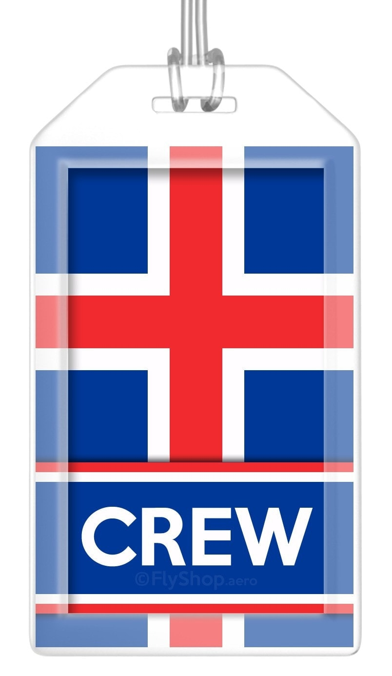 Iceland Flag Crew Bag Tag (Set of 2)