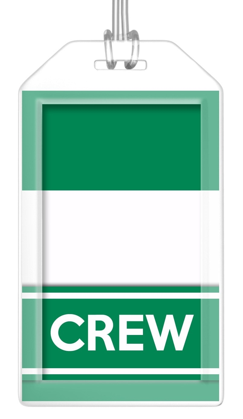 Nigeria Flag Crew Bag Tag (Set of 2)