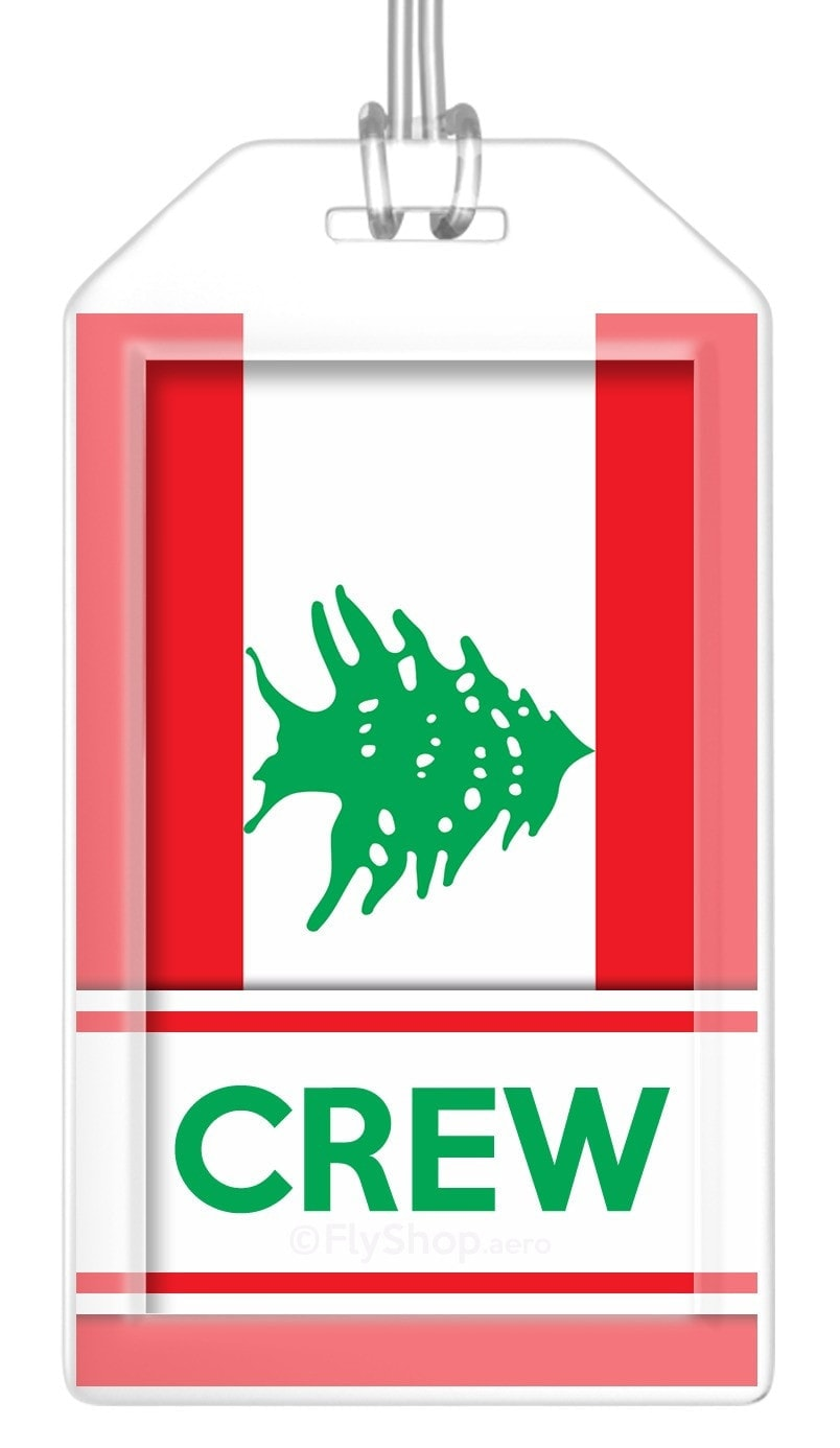 Lebanon Flag Crew Bag Tag (Set of 2)