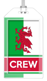 Wales Flag Crew Bag Tag (Set of 2)