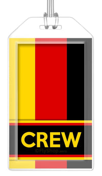 Germany Flag Crew Bag Tag (Set of 2)