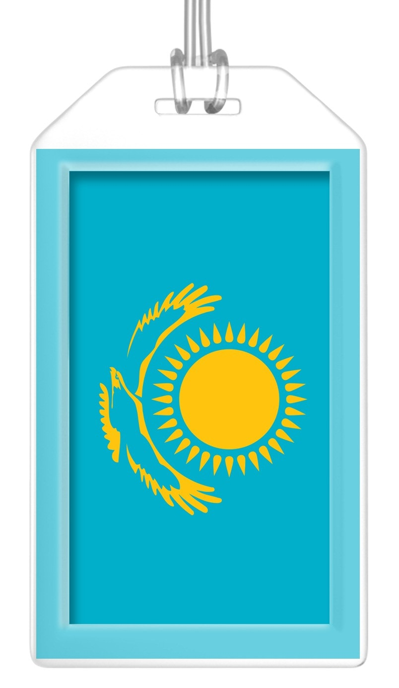 Kazakhstan Flag Bag Tag (Set of 2)