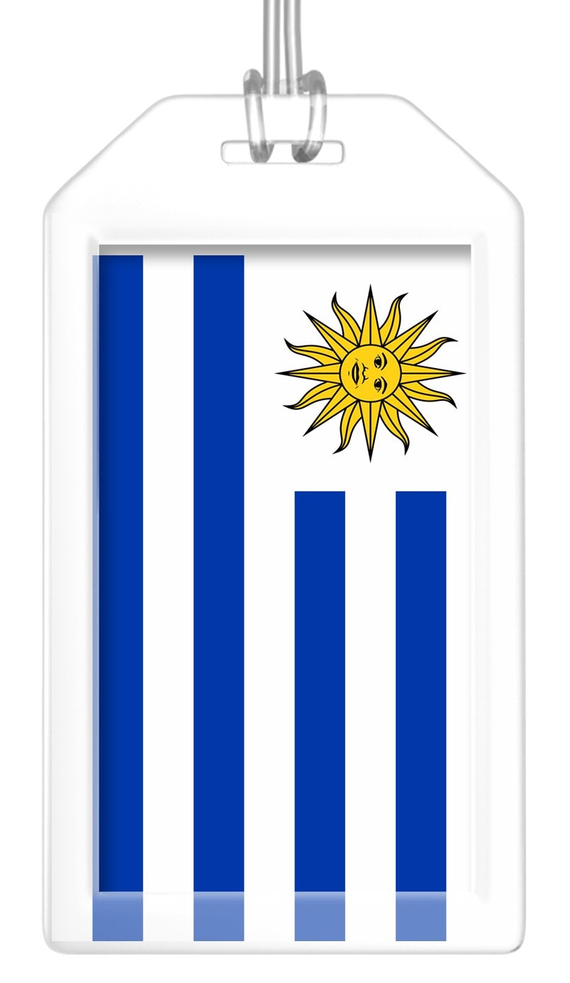 Uruguay Flag Bag Tag (Set of 2)