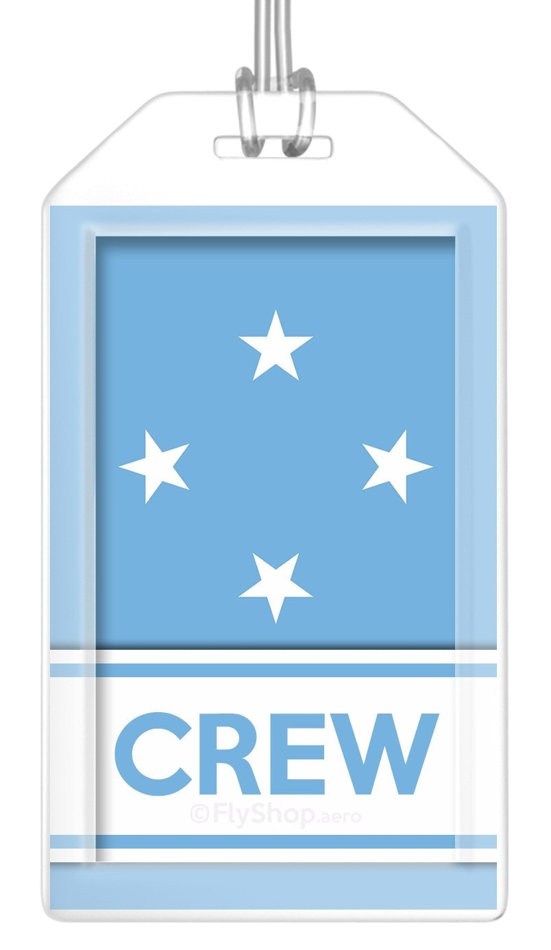 Micronesia Flag Crew Bag Tag (Set of 2)