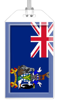South Georgia and South Sandwich Islands Flag Bag Tag (Set of 2)