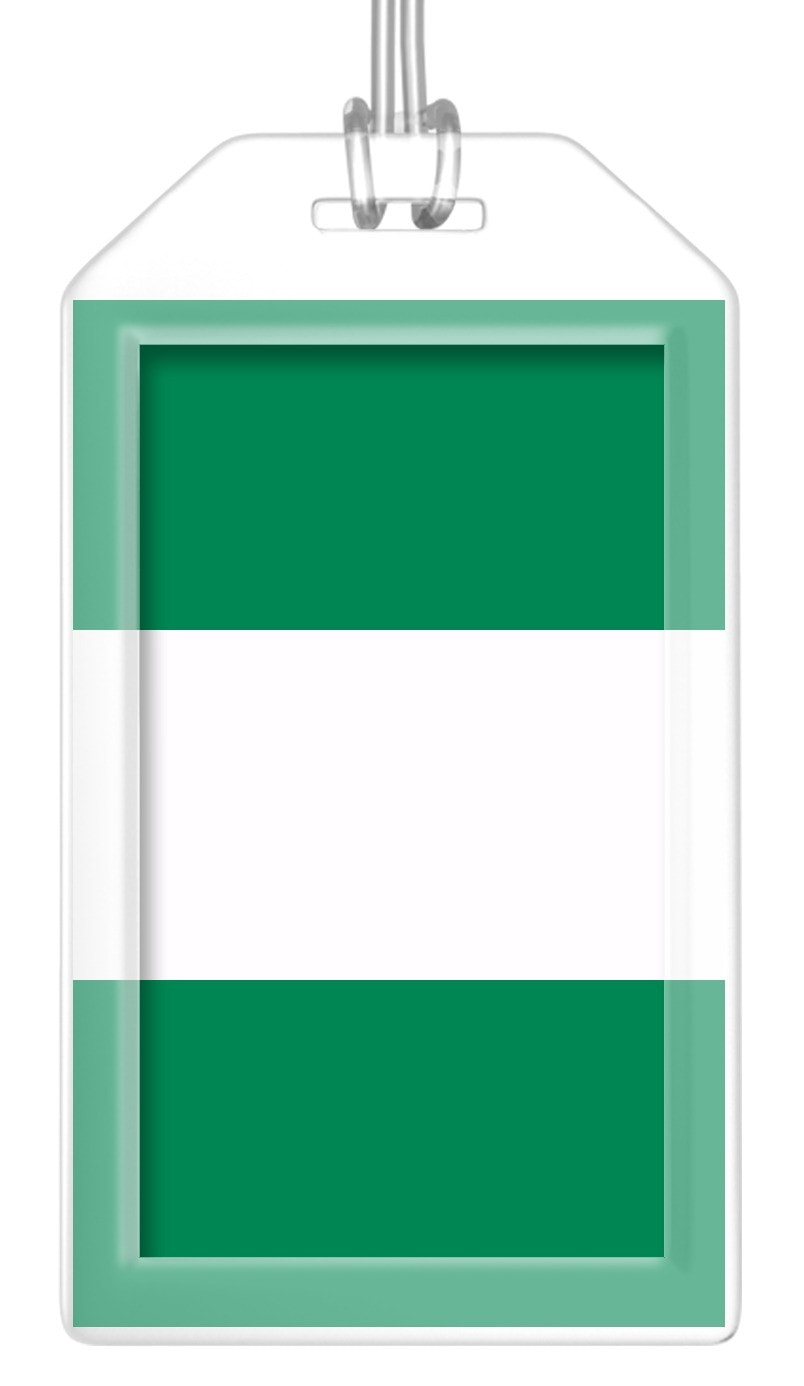 Nigeria Flag Bag Tag (Set of 2)