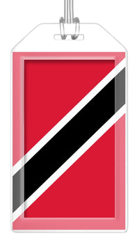 Trinidad and Tobago Flag Bag Tag (Set of 2)