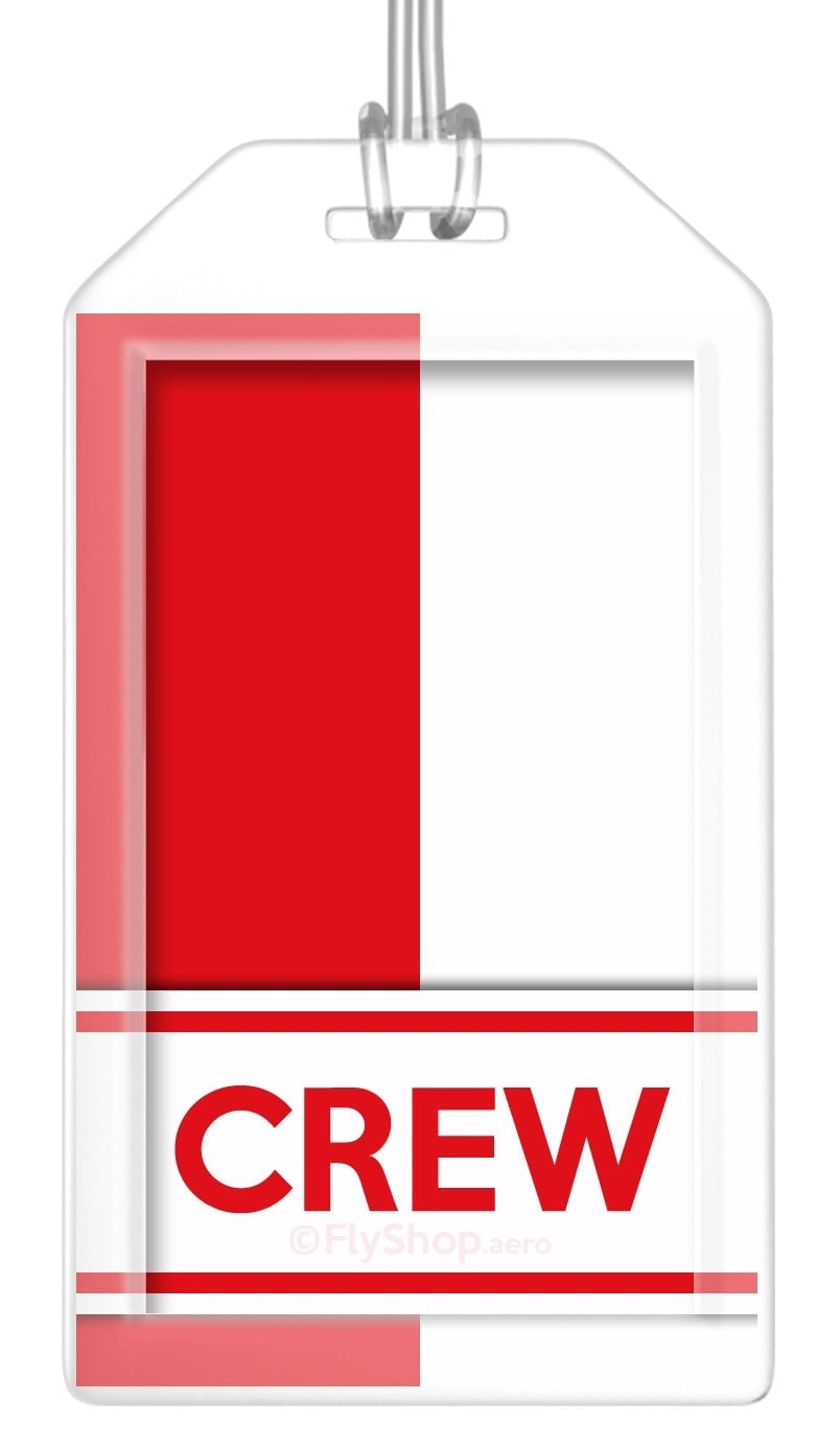 Poland Flag Crew Bag Tag (Set of 2)