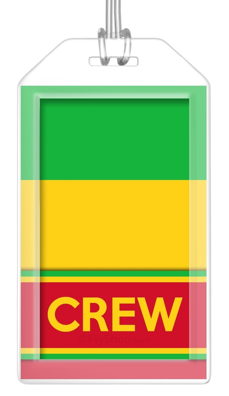 Mali Flag Crew Bag Tag (Set of 2)