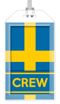 Sweden Flag Crew Bag Tag (Set of 2)