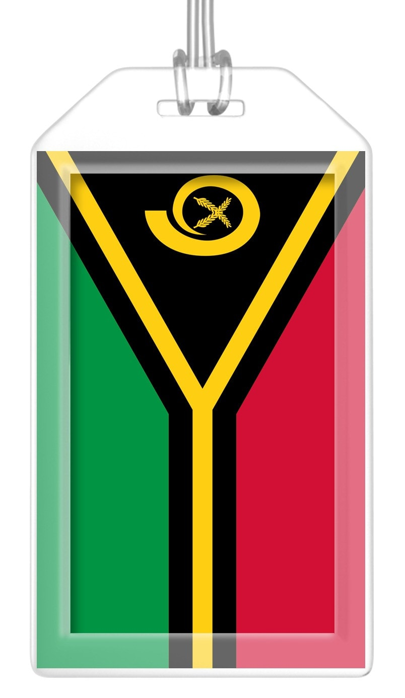 Vanuatu Flag Bag Tag (Set of 2)