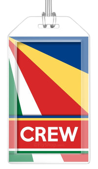 Seychelles Flag Crew Bag Tag (Set of 2)