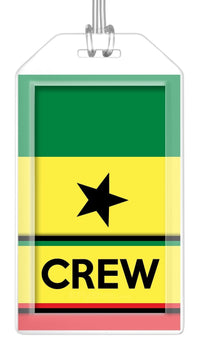 Senegal Flag Crew Bag Tag (Set of 2)