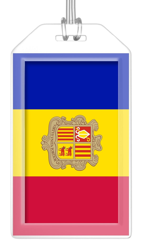 Andorra Flag Bag Tag (Set of 2)