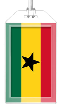Ghana Flag Bag Tag (Set of 2)
